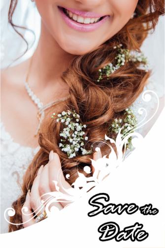 Volles Haar für Brautfrisuren